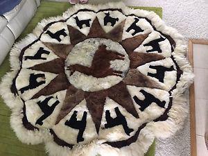 Alpaca rug from peru