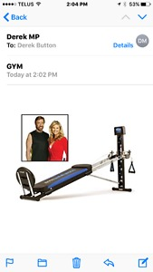 Chuck Norris total gym and elliptical