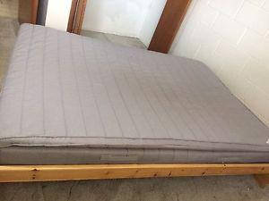 IKEA mattress (double) and bed frame