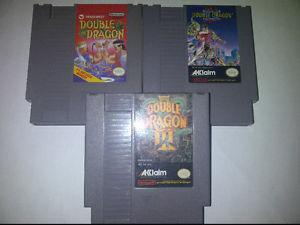 Nintendo Nes Games Double Dragon 1, 2 and 3. The Set for