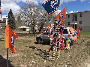 Oilers Car Flags