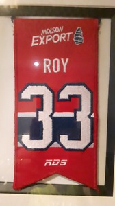 Patrick Roy Montreal Canadiens Jersey Retirement Banner and