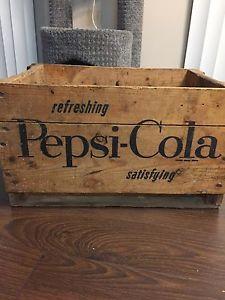 Pepsi antique box vintage crate