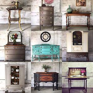 Refinished vintage and antique furniture