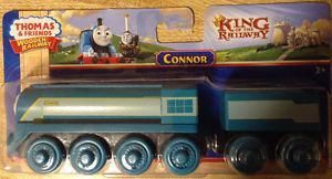 THOMAS & FRIENDS WOODEN RAILWAY-CONNOR & TENDER TRAIN SET