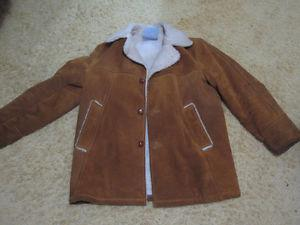 hefty suede winter jacket