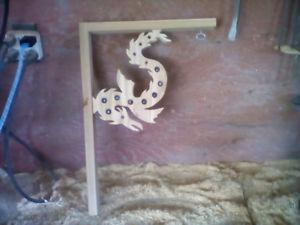 wooden plant or chime hangers