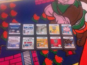 10 Hand held Nintendo DS 3DS game cartridges carts Lot 2
