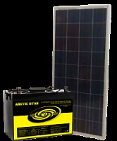 140 WATT &  WATT SOLAR PANELS w/ 4 AGM. BATTERIES, 2