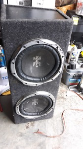 """2 x10"""" subs in box"""