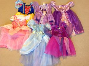 4 Disney princess dresses