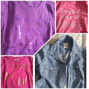 4 long sleeve shirt, girl's size