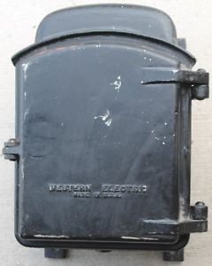 ANTIQUE POLICE CALL BOX, Cast Iron