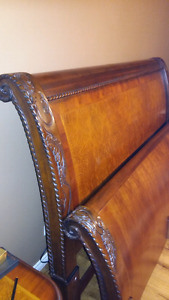 Aspen home king size sleigh bed