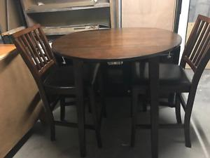 Bar hieght 3 piece table and chairs