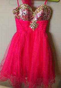 Beautiful junior prom dress pink