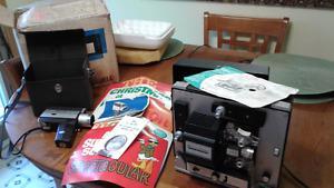 Bell & Howell Super 8 Cam/Projector/Screen