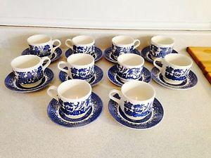 Blue Willow Cups and Saucers. $5 each. 16 available