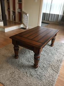 Coffee table, end tables, and sofa table set