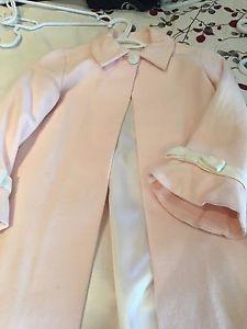 Girls long dress coat size 7