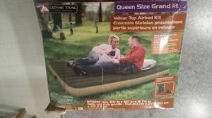 Inflated Queen size mattress with air pump