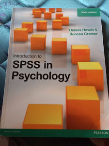 Intro to SPSS in Psychology | 6th Ed. | Howitt & Cramer