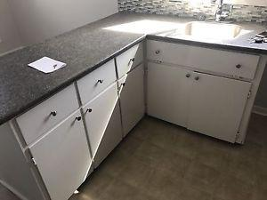 Kitchen Cabinets at Counter Top with sink