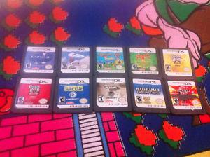 Lot of 10 Nintendo DS 3DS game cartridges carts