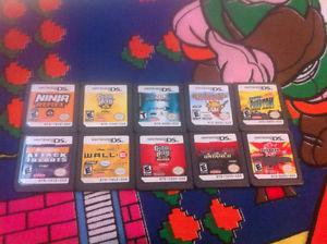 Lot of 10 Nintendo DS 3DS video game cartridges Lot 4