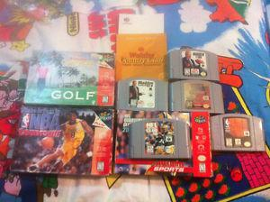 Lot of Nintendo 64 games and boxes N64 Video games