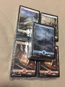 MTG BFZ Full Art Land Packs (x50 cards /pack) SEALED