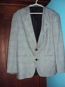 Men's size inch chest black & white lightweight wool