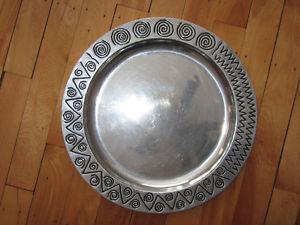 "Metal decorative decor plate home décor 14"" (Shediac)"