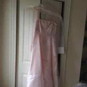 PERFECT PROM OR BRIDAL PARTY DRESS IN SHELL PINK
