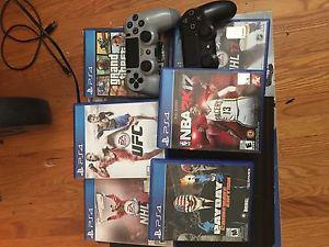 PS4, 2 controllers and 6 games for sale. All must sale