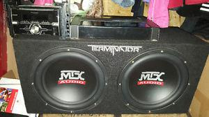 """Pioneer stereo, Mtx 12""""subs and amp"""