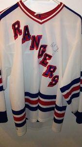Ron Greschner Autographed Mark Messier Rangers Jersey