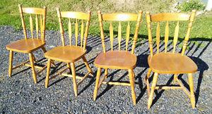 Set of 4 Solid Wood Side Chairs