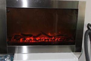 Stainless Steel Wall Hanging Fireplace with heater