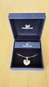 Swarovski Crystal Puffed Heart Pendant & Chain