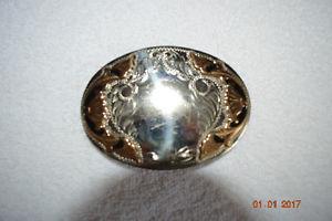 Western silver buckle
