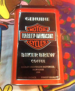 collectable Harley-Davidson Biker Brew Coffee Tin