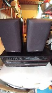 2 Infinity Speakers new and Niko Amplifier and Tuner