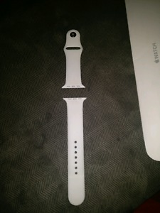 42mm white apple watch sport band