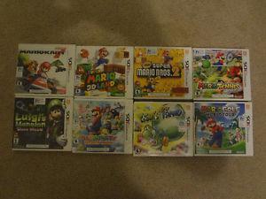 8 Super Mario Nintendo 3DS Video Games