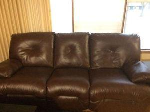 Ashley recliner leather couch and love seat