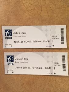 Billets à Vendre Julien Clerc, Moncton