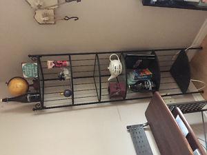 Black rod iron corner shelf