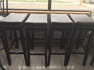 Brand New Bar Height with Leather Top Chair