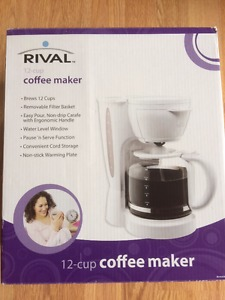 Brand new RIVAL 12 cup coffee maker only